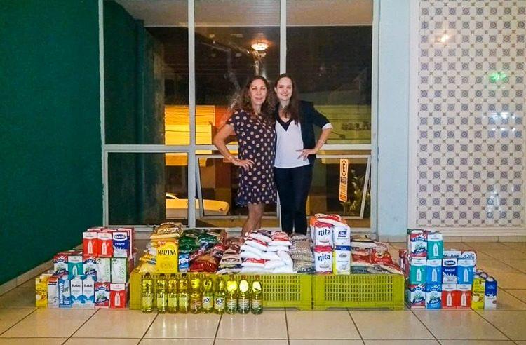 Palestra com coaching arrecada 224 kg de alimentos para o Fundo Social