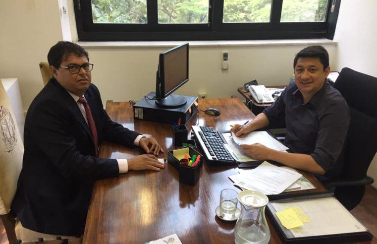 Prefeito de Florínea, Paulo Eduardo Pinto, o 'Duda', cumpre agenda na capital paulista