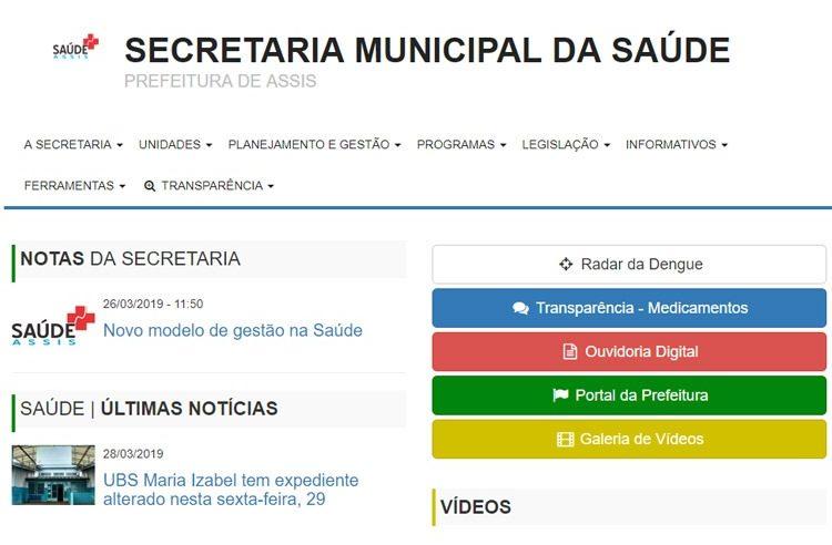 Prefeitura de Assis lança Portal da Saúde para acesso da população