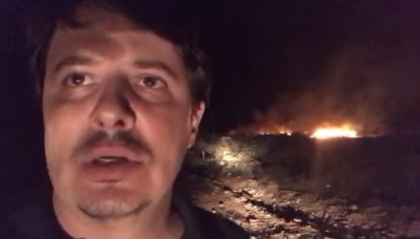 Secretaria de Meio Ambiente afirma que incêndio no sábado em aterro de inertes foi criminoso