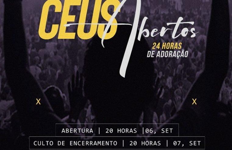 Conselho de Pastores anuncia evento 'Céus Abertos' e promoverá 24 horas de adoração e louvores