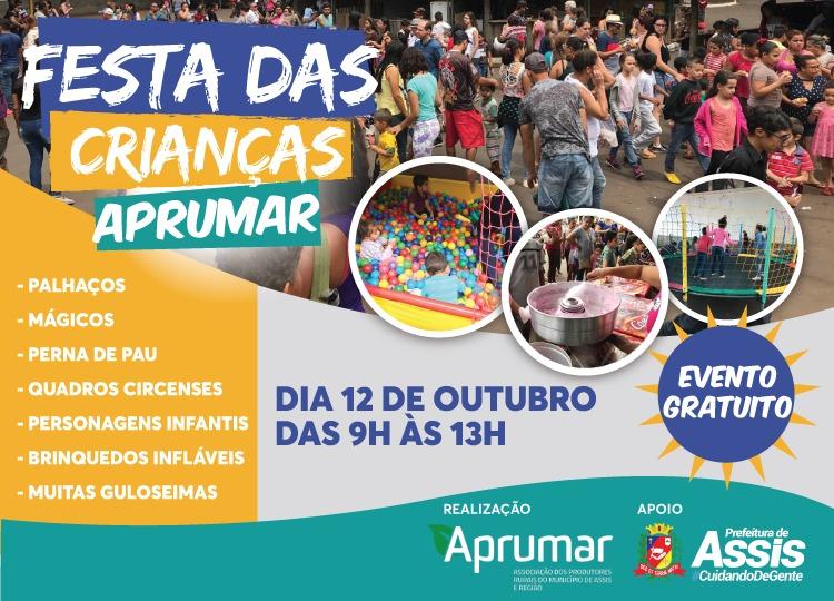 Para comemorar o Dia das Crianças, Aprumar anuncia evento gratuito com várias atrações