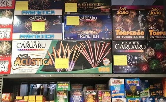 Procura por fogos de artifício aumenta e clientes têm buscado os 'silenciosos'